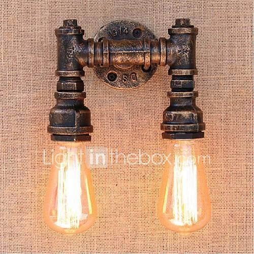 AC 220V-240V 40W E27 BG820-2 Nostalgia Simple Water Pipe Decorative Small Wall Lamp Wall Light ...