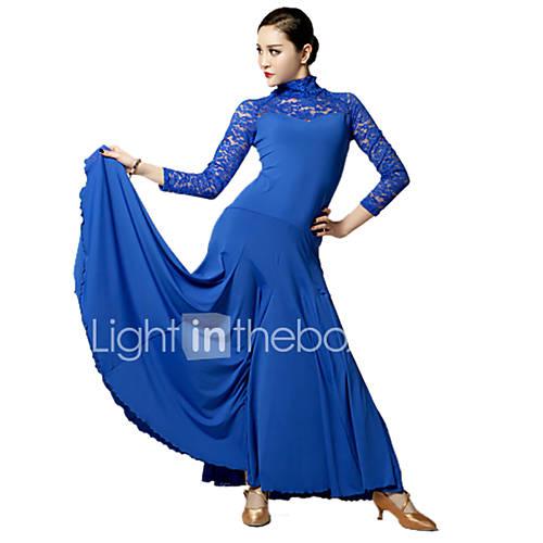 Vestidos(Negro / Azul / Fucsia / Rojo,Encaje / Viscosa,Danza Moderna) -Danza Moderna- paraMujer Encaje Representación Descuento en Lightinthebox