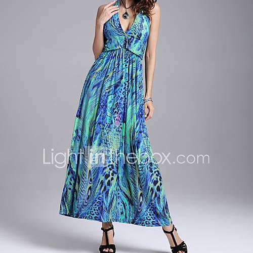 dames-casual-dagelijks-boho-schede-jurk-print-v-hals-midi-mouwloos-bruin-groen-oranje-paars-polyester-alle-seizoenen-medium-taille