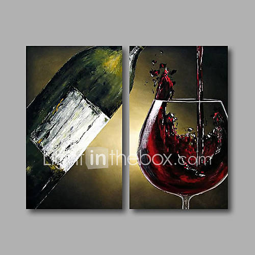 Wall Art Canvas Ready To Hang : Stretched ready to hang hand painted oil painting