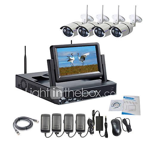 Cámara IP inalámbrica con strongshine 960p / infrarrojos / NVR resistente al agua y con los kits de combo LCD 7 pulgadas Descuento en Lightinthebox