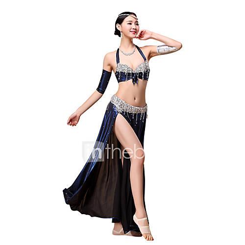 AccesoriosPoliéster,Danza del Vientre) -Danza del Vientre- paraMujer Plisado Lentejuelas Borla(s) Representación Descuento en Lightinthebox
