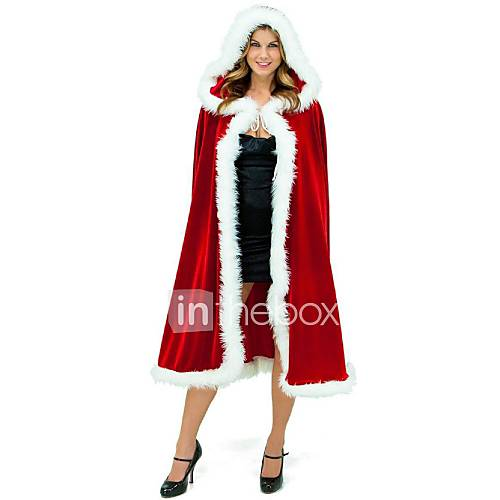 Women s red riding hood cape with hood santa claus costumes fairytale
