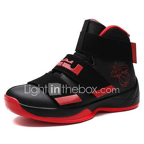 Hombre-Tacón Plano-Confort-Zapatillas de Atletismo-Exterior Informal Deporte-Materiales Personalizados Microfibra-Azul Blanco Negro y Rojo