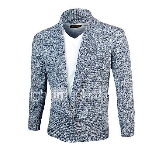 heren-uitgaan-casual-dagelijks-eenvoudig-actief-normaal-pullover-patchwork-blauw-beige-v-hals-lange-mouw-katoen-winter-medium-dik