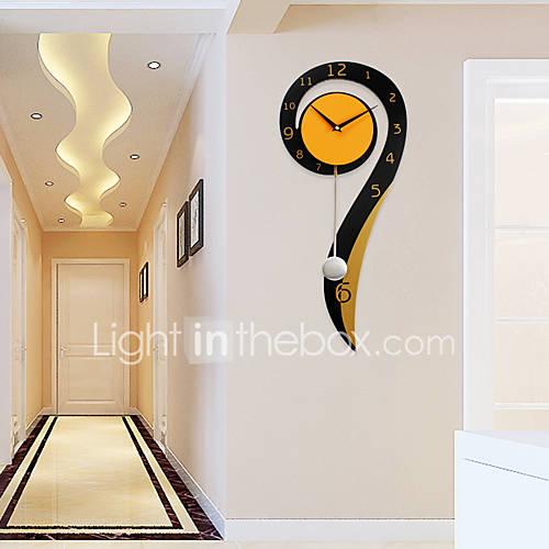 Moderno/Contemporáneo Casas Reloj de pared,Otros Metal / Madera 2660cm Interior Reloj Descuento en Lightinthebox
