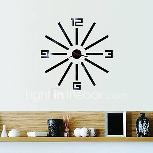 New Arrival 2016 Direct Selling Mirror Wall Clocks 3d Home Decor Diy Crystal Quartz Clock Art