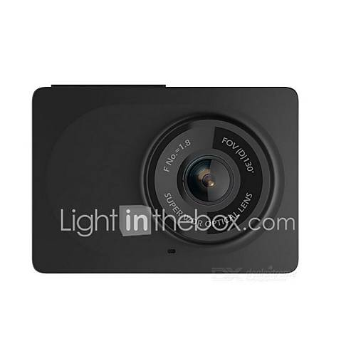 Xiaomi Xiaomi Power Edition Black Stealth 1080p 130 Degree Car DVR 2.7 inch Dash Cam Android APP IOS APP Emergency Lock Built-in speaker