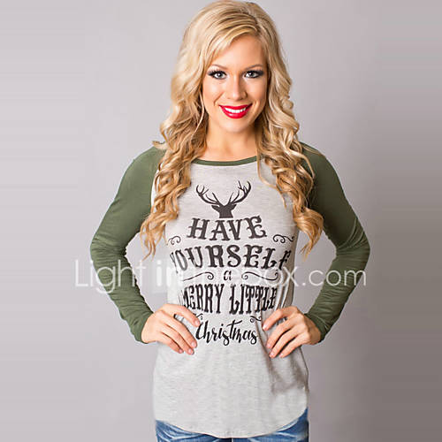 dames-eenvoudig-street-chic-lente-herfst-t-shirt-uitgaan-casual-dagelijks-grote-maten-print-kleurenblok-ronde-hals-lange-mouw