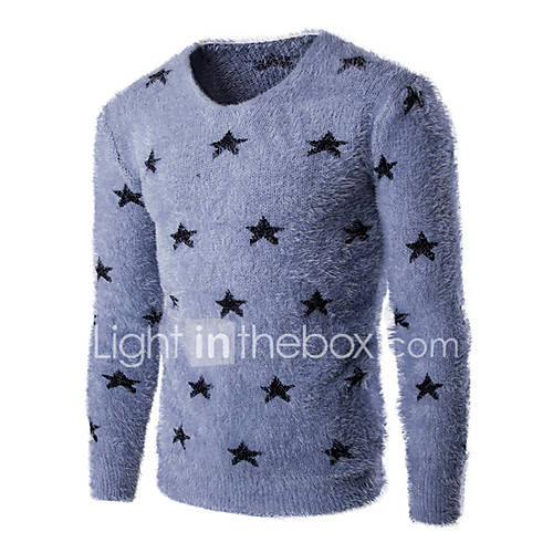 heren-casual-dagelijks-eenvoudig-normaal-pullover-effen-geometrisch-blauw-grijs-ronde-hals-lange-mouw-katoen-lente-herfst-medium