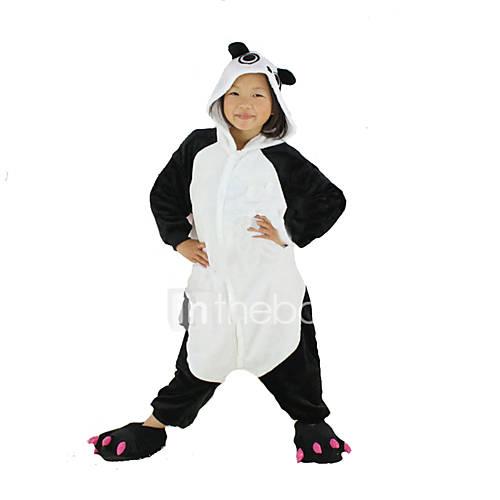 Kigurumi Pajamas Panda Onesie Pajamas Costume Polar Fleece Black Cosplay For Kid Animal Sleepwear Cartoon Halloween Festival / Holiday