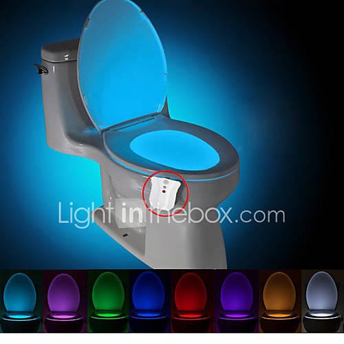 brelong actualizado activado por movimiento de luz nocturna higiénico impermeables llevó la luz DC4.5V aseo baño lavadero