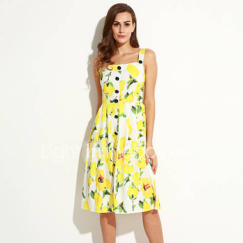 Women's Casual/Daily Sophisticated A Line Dress,Floral ... - photo#18