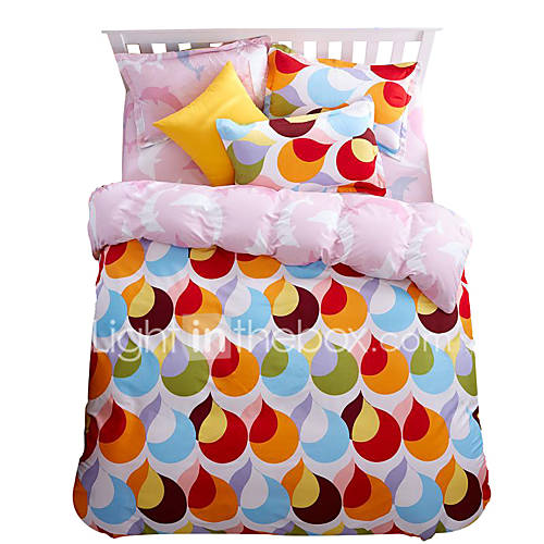 Mingjie Wonderful Orange And Light Blue Bedding Sets 4pcs For Twin Full Queen King Size From