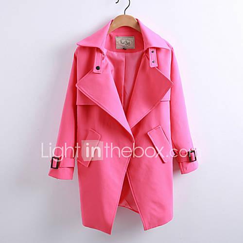dames-sexy-street-chic-herfst-winter-jas-uitgaan-casual-dagelijks-peter-pan-kraag-lange-mouw-blauw-roze-rood-zwart-bruin