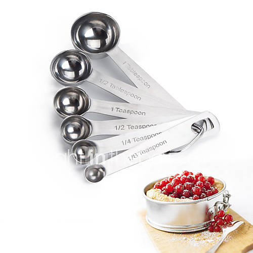 May Fifteenth 6 Stainless Steel Measuring Spoon Cup Set