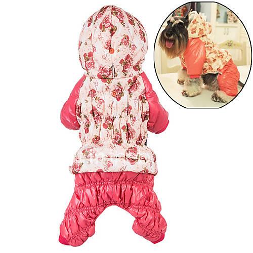 cachorro-camisola-com-capuz-macacao-roupas-para-caes-algodao-inverno-fofo-casual-mantenha-quente-floral-botanico-rosa-rosa-claro-para