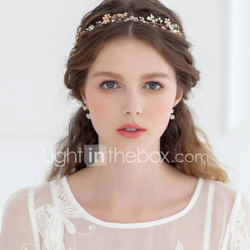 Formal Gold Headbands For Women Women S Rhinestone Alloy