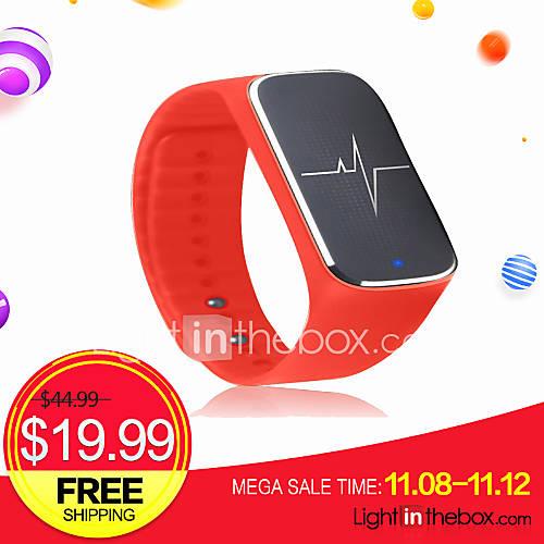L18 tasa de respiración de la presión arterial de la frecuencia cardíaca del sueño de movimiento paso brazalete pulsera de la salud del Descuento en Lightinthebox
