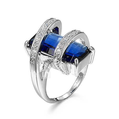 Big Amaranth Zircon Rings For Female Romantic Women