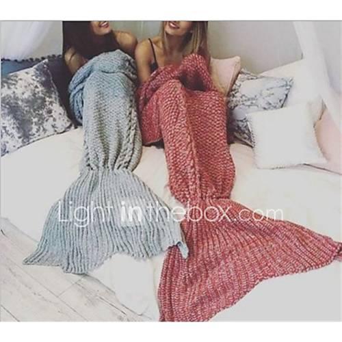 Knitting Pattern Travel Blanket : Travel Travel Blanket Travel Rest Keep Warm Cotton Knitted ...