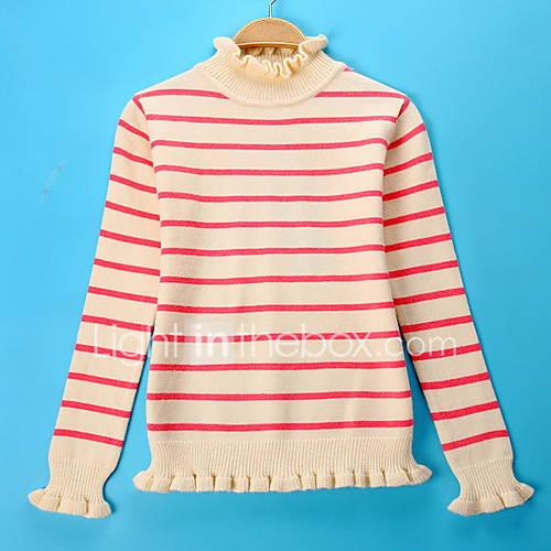Dames Casual/Dagelijks Eenvoudig Normaal Pullover Kleurenblok-Blauw / Roze Coltrui Lange mouw Imitatiebont Lente / Herfst Medium