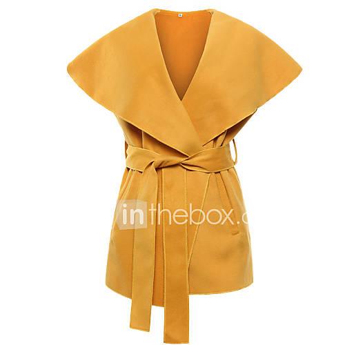 dames-vintage-eenvoudig-lente-herfst-jas-uitgaan-casual-dagelijks-vierkante-hals-mouwloos-zwart-grijs-geel-effen-medium-overige