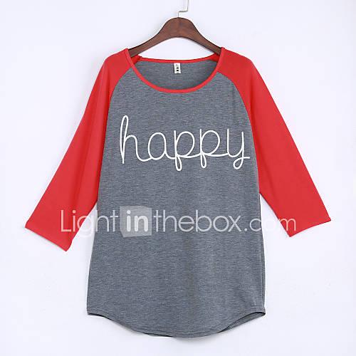 dames-eenvoudig-street-chic-alle-seizoenen-t-shirt-uitgaan-casual-dagelijks-kleurenblok-ronde-hals-lange-mouw-grijs-katoen-rayon-dun
