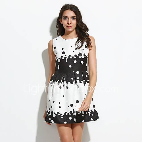dames-casual-dagelijks-vintage-schede-jurk-print-ronde-hals-boven-de-knie-mouwloos-wit-polyester-alle-seizoenen-medium-taille-inelastisch