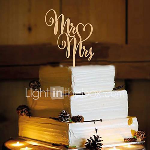 Decoración de Pasteles No personalizado Monograma Resina Matrimonio Amarillo Tema Lazo 1 OPP