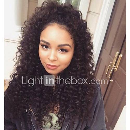 120% High Density Glueless Lace Front Human Hair Wigs With Baby Hair Lace Front Wig For Black Women Deep Curly Wave Peruvian Wig