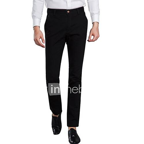 heren-recht-chinos-zwaar-katoen-broek-effen-casual-dagelijks-eenvoudig-medium-taille-rits-katoen-micro-elastisch-herfst-winter
