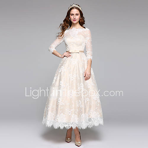 2017lanting bride a line wedding dress simply sublime for Lace ankle length wedding dress