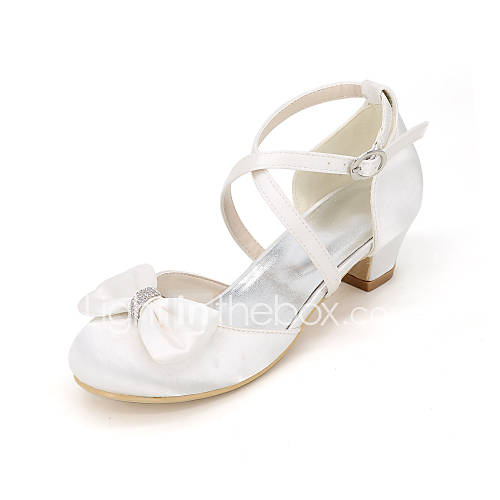 Fall Flower Girl Shoes Silk Wedding Party Evening Wedding Shoes