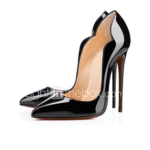 Women's Heels Spring Summer Fall Patent Leather Office  Career Casual Party  Evening Stiletto Heel Black