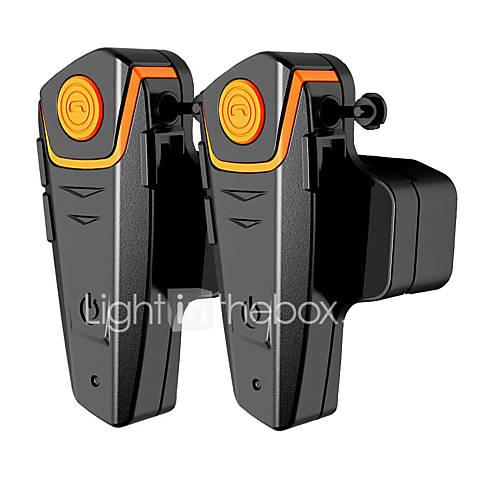 BT-S2 2 Pcs Waterproof Motorcycle Moto Interphone Headset With FM Radio Helmet Headset For Riders Wireless Bluetooth Helmet Intercom