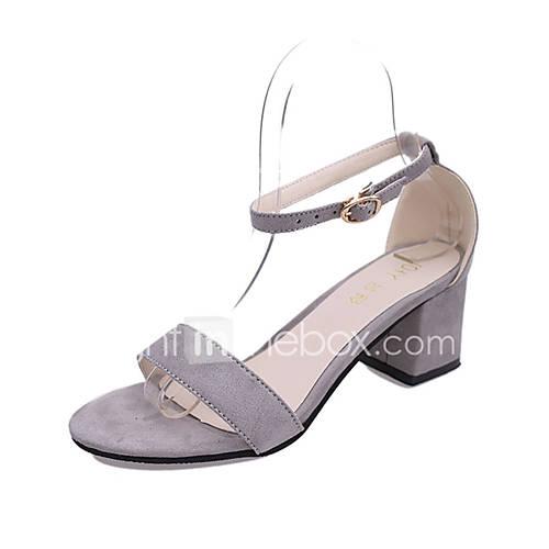 Women's Heels Spring Summer PU Casual Stiletto Heel Black Beige Light Grey Blushing Pink