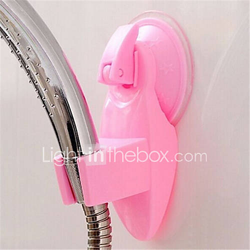 1Pcs  Adjustable Bathroom Vacuum Shower Head Stand Home Wall Suction Cup Shower Bracket Universal Head Holder  Random Color