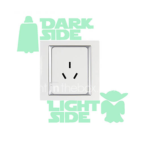 Luminous Wall Stickers Wall Decals Style Cartoon Switch Waterproof Removable PVC Wall Stickers