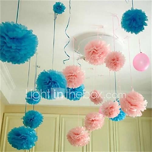 10pcs 25cm 25 centimetri palle di fiori di carta a basso costo per matrimonio decorazione della casa della macchina del partito mestieri