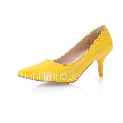 Women's Shoes PU Leatherette Patent Leather Synthetic Spring Summer Slingback Novelty Comfort Heels Walking Shoes Stiletto Heel Pointed