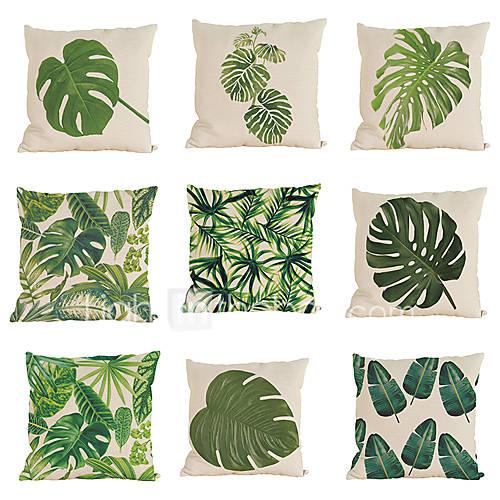 9 PC Lino Cobertor de Cojín Funda de almohada,Sólido Con Texturas Moderno/Contemporáneo Casual Tradicional/Clásico Estilo playero Tropical