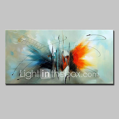 Hand-Painted Abstract Horizontal Modern European Style Canvas Oil Painting Home Decoration One Panel