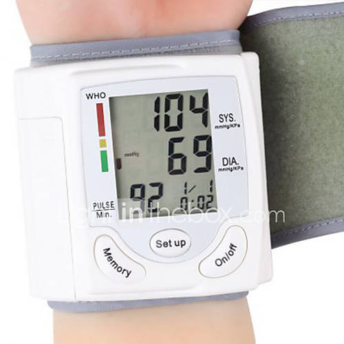 Light in the box ES|cuidado de la salud de la muñeca monitor de presión arterial automático digital portátil