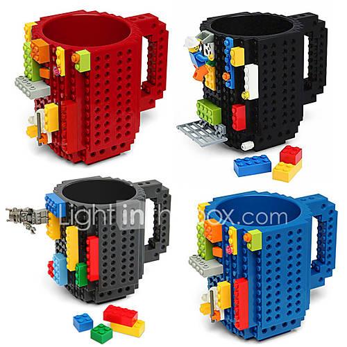 Vasos novedad, bpa 350 ml de plástico del bloque libre del café con leche del juguete taza de café tazas Lightinthebox