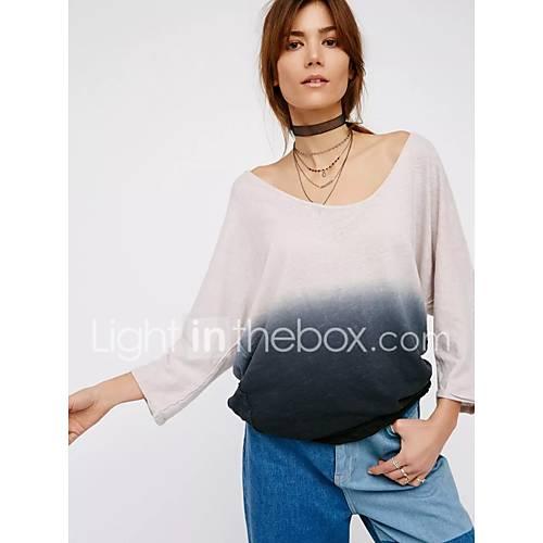 dames-sexy-eenvoudig-street-chic-lente-herfst-t-shirt-uitgaan-casual-dagelijks-effen-kleurenblok-diepe-v-hals-lange-mouw-blauw-groen-zijde