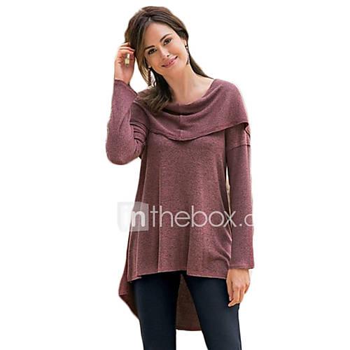 dames-sexy-vintage-eenvoudig-lente-herfst-t-shirt-casual-dagelijks-strand-uitgaan-effen-ronde-hals-lange-mouw-katoen-medium