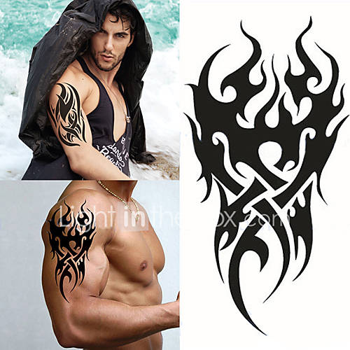 1 pcs  High Men's Temporary Tattoo Waterproof Totem Body Arm Leg Art Stickers Removable