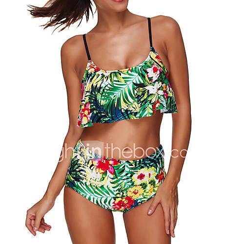 mulheres-tanquini-floral-nadador-nailon-elastano-mulheres