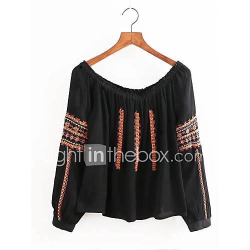 dames-sexy-eenvoudig-street-chic-lente-herfst-overhemd-casual-dagelijks-uitgaan-effen-print-kleurenblok-boothals-lange-mouw-katoen-medium